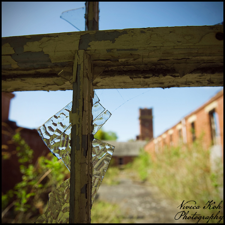 Looking out through a broken window