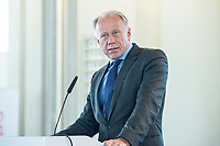 "06 JUN 2018, BERLIN/GERMANY:<br /> Juergen Trittin, MdB, B90/Gruene, Bundesumweltminister a.D., 27. BBH-Energiekonferenz ""Die Energiewende"", Becker Buettner Held, Franzoesische Friedrichstadtkirche<br /> IMAGE: 20180606-01-068<br /> KEYWORDS: Jürgen Trittin"