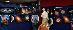 Aug 18,2017.  Casper WY. Astrocon 2017 attendees check out all the latest in astronomy during the 2017 Astrocon convention Friday in Casper  Wy. The town is expecting over 100,000+ eclipse goers to invade the town as it lies in the middle of totality for a full 100% total eclipse for Monday Aug 21st. Photo by Gene Blevins/LA DailyNews/SCNG/ZumaPress. (Credit Image: © Gene Blevins via ZUMA Wire)