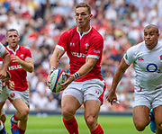 Twickenham, Surrey, World Cup, Sunday, 11.08.19, Wales,George NORTH, playing in the Warm up match, Quilter International, England vs Wales, at the RFU Stadium  [© Peter SPURRIER/Intersport Image]<br /> <br /> 15:11:48