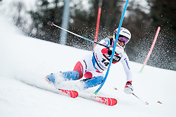 """Michelle Gisin (SUI) competes during 1st Run of FIS Alpine Ski World Cup 2017/18 Ladies' Slalom race named """"Snow Queen Trophy 2018"""", on January 3, 2018 in Course Crveni Spust at Sljeme hill, Zagreb, Croatia. Photo by Vid Ponikvar / Sportida"""