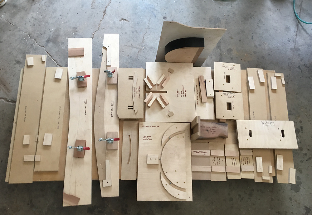 set of jigs to streamline chair making process chair making, jigs, patterns, molds