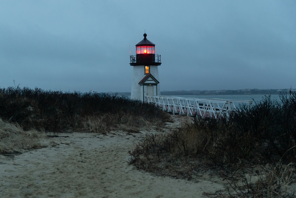 A cold autumn evening at Brant Point Light.