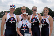 Amsterdam, HOLLAND,   GB  LTAMX4+ at the 2007 FISA World Cup, Second Round, Finals day,  at the Bosbaan Regatta Rowing Course. 24.06.2007, left, Alan CROWTHER,  Alastair McKEAN, Naomi RICHES, Victoria HAINSFORD and cox Tasmin COTTLE, [Mandatory Credit: Peter Spurrier/Intersport-images]...... , Rowing Course: Bosbaan Rowing Course, Amsterdam, NETHERLANDS
