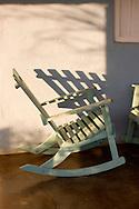 Rocking chair on porch in Vinales, Pinar del Rio, Cuba.
