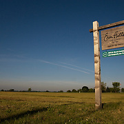 Entrance to Erin Hills Golf Course in Erin, Wisconsin. Please send licensing requests to legal@toddbigelowphotography.com