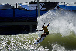 May 5, 2018 - Lemoore, California, U.S - Brasil team surfer TAINA HINCKEL completes a turn on her second wave in heat 1. (Credit Image: © Erick Madrid via ZUMA Wire)