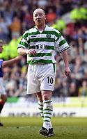 Photo: Greig Cowie<br />CIS Scottish Cup Final. Celtic v Rangers. Hampden Park Glasgow. 16/03/2003<br />John Hartson rues his late penalty miss