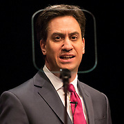 Labour leader Ed Milliband speaking at the Scottish Labour Party Special One-Day Conference at EICC in Edinburgh, Britain. 7th March 2015