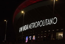October 28, 2017 - Madrid, Spain - The front of Wanda Metropolitano stadium..Draw at 1 in Wanda Metropolitano stadium. (Credit Image: © Jorge Gonzalez/Pacific Press via ZUMA Wire)