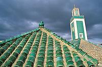 Maroc,Meknes, Minaret de la Grande Mosquée