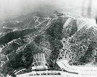 1933 Aerial photo of Griffith Park Observatory and Greek Theater