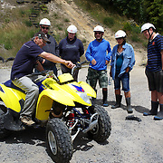 Participants are instructed on how to ride a Quad Bike near Taupo with Taupo Quad Bikes. Taupo, North Island, New Zealand. 7th January 2011. Photo Tim Clayton.