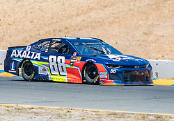 June 22, 2018 - Sonoma, CA, U.S. - SONOMA, CA - JUNE 22: Alex Bowman, driving the #(88) Chevrolet for Hendrick Motorsports on a practice run on Friday, June 22, 2018 at the Toyota/Save Mart 350 Practice day at Sonoma Raceway, Sonoma, CA (Photo by Douglas Stringer/Icon Sportswire) (Credit Image: © Douglas Stringer/Icon SMI via ZUMA Press)