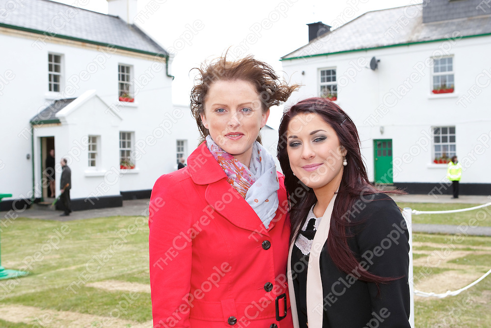 Brid Hanarahan & Ciana Callanan pictured at the  officially opened the new exhibition at Loop Head Lighthouse by Taoiseach Enda Kenny, T.D. and launched the 2012 visitor season at the historic West Clare tourist attraction<br /> Pictured Credit Brian Gavin Press 22