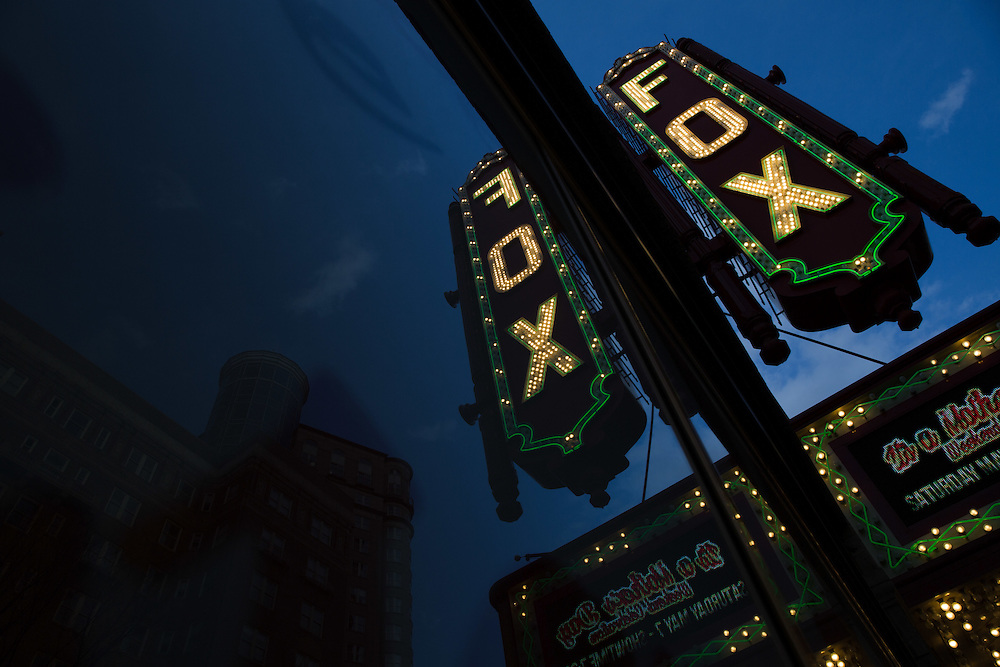 ATLANTA, GA - MARCH 10: The Fox Theatre is photographed on Thursday, March 10, 2016. Shot to be part of a double exposure project on housing story in Atlanta. (Photo by Kevin D. Liles/For the Washington Post)