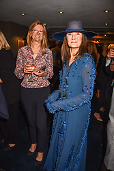 Left to right, Kate Hobhouse and Cherryl Cohen at the third annual Fortnum's x Frank exhibition at Fortnum & Mason, 181 Piccadilly, London, UK on September 12, 2018.<br /> 12 September 2018.