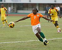 Photo: Steve Bond/Richard Lane Photography.<br />Ivory Coast v Benin. Africa Cup of Nations. 25/01/2008. Arthur Boka of Ivory Coast and Stuttgart reaches for the ball