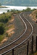 Railroad track curve along the river in western Montana. Missoula Photographer, Missoula Photographers, Montana Pictures, Montana Photos, Photos of Montana