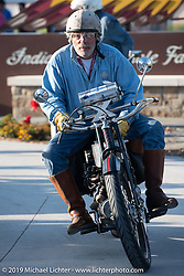 Frank Westfall riding his 1916 Henderson in the  Motorcycle Cannonball coast to coast vintage run. Stage 7 (274 miles) from Cedar Rapids to Spirit Lake, IA. Friday September 14, 2018. Photography ©2018 Michael Lichter.