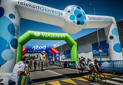 Riders in finish area of 36th Marathon Franja BTC City 2017, on June 11, 2016 in Dolgi most, Ljubljana, Slovenia. Photo by Vid Ponikvar / Sportida