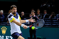 October 30, 2017 - Paris, France - The French player JEREMY CHARDY returns the ball to French player Gilles Simon during the tournament Rolex Paris Master at Paris AccorHotel Arena Stadium in Paris France. Chardy won 6-3 6-0 (Credit Image: © Pierre Stevenin via ZUMA Wire)