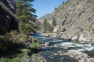 The Salmon River, aka the River of No Return, flows through a canyon accessible by U.S. Forest Service Route  NFD 030 between North Fork and Salmon, Idaho, on Aug. 11, 2016. (© 2016 Cindi Christie)
