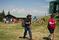 Visitors head to Gunstock's Mountain Top stage as Soulfest 2017 begins.   (Karen Bobotas Photographer)