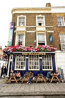 The Tea Clipper, a traditional English Pub, London, England (Vertical).
