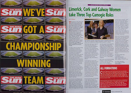 All Ireland Senior Hurling Championship - Final,.11.09.2005, 09.11.2005, 11th Septemeber 2005,.Minor Galway 3-12, Limerick 0-17,.Senior Cork 1-21, Galway 1-16,.11092005AISHCF,.The Irish Sun, .Camogie, Caroline Murray, Galway, .Mary O'Connor, Cork,.Lynn Kelly , National Camogie Development Co-ordinator,