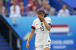 July 7, 2019 - Lyon, France - Alex Morgan (Orlando Pride) of United States lament a failed occasion during the 2019 FIFA Women's World Cup France Final match between The United State of America and The Netherlands at Stade de Lyon on July 7, 2019 in Lyon, France. (Credit Image: © Jose Breton/NurPhoto via ZUMA Press)