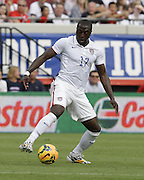 JACKSONVILLE, FL - JUNE 07:  Forward Jozy Altidore #17 of the United States dribbles during the international friendly match against Nigeria at EverBank Field on June 7, 2014 in Jacksonville, Florida.  (Photo by Mike Zarrilli/Getty Images)