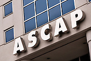 Sign for ASCAP headquarters in Nashville, TN. American Society of Composers, Authors and Publishers is a performing rights organization which licenses and collects royalties on behalf of musicians and song writers.