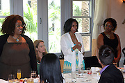 24 June 2010- Miami Beach, Florida- l to r:  Jetta Bates, Cindi Smith, Courtney Jones at the The 2010 American Black Film Festival Founder's Brunch held at Emeril's on June 24, 2010. Photo Credit: Terrence Jennings/Sipa