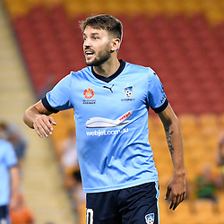 BRISBANE, AUSTRALIA - FEBRUARY 3: Milos Ninkovic of Sydney looks on during the round 18 Hyundai A-League match between the Brisbane Roar and Sydney FC at Suncorp Stadium on February 3, 2017 in Brisbane, Australia. (Photo by Patrick Kearney/Brisbane Roar)