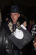 Boy George. Be a Bag, Irish Club, London. In aid of the Lavender Trust. 17 September 2001. © Copyright Photograph by Dafydd Jones 66 Stockwell Park Rd. London SW9 0DA Tel 020 7733 0108 www.dafjones.com