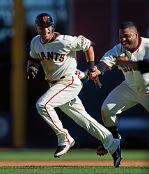 Marco Scutaro and Pablo Sandoval, 2012 World Series Champion Giants