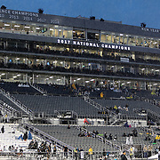 FL - OCTOBER 03:  Seated capacity for fans is limited due to the coronavirus as Tulsa plays Central Florida in NCAA football at Bright House Networks Stadium on October 3, 2020 in Orlando, Florida. (Photo by Alex Menendez/Getty Images) *** Local Caption ***
