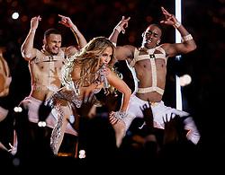 February 2, 2020, Miami Gardens, FL, USA: Jennifer Lopez performs during the Pepsi Super Bowl LIV Halftime Show at Hard Rock Stadium in Miami Gardens, Fla., on Sunday, Feb. 2, 2020. (Credit Image: © TNS via ZUMA Wire)
