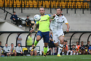 Derby Count's Johnny Russell and Port Vale's Neil Eardley during the Pre-Season Friendly match between Port Vale and Derby County at Vale Park, Burslem, England on 18 July 2017. Photo by John Potts.