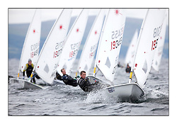 Jack Wetherell, GBR-195318.Day 2 brought Easterly changeable conditions for the Laser Radial World Championships, taking place at Largs, Scotland GBR. ..118 Women from 35 different nations compete in the Olympic Women's Laser Radial fleet and 104 Men from 30 different nations. .All three 2008 Women's Laser Radial Olympic Medallists are competing. .The Laser Radial World Championships take place every year. This is the first time they have been held in Scotland and are part of the initiaitve to bring key world class events to Britain in the lead up to the 2012 Olympic Games. .The Laser is the world's most popular singlehanded sailing dinghy and is sailed and raced worldwide. ..Further media information from .laserworlds@gmail.com.event press officer mobile +44 7775 671973  and +44 1475 675129 .