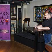NLD/Amsterdam/20181101 Boekpresentatie Seks, Macht & Misbruik door Frank Waals, schrijver Frank Waals in gesprek met Marisca van Kolck