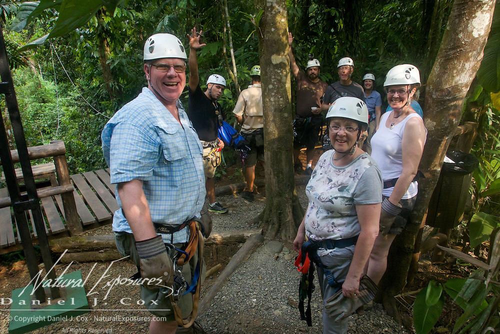 Natural Exposures Explorers on our zip line adventure in Costa Rica.