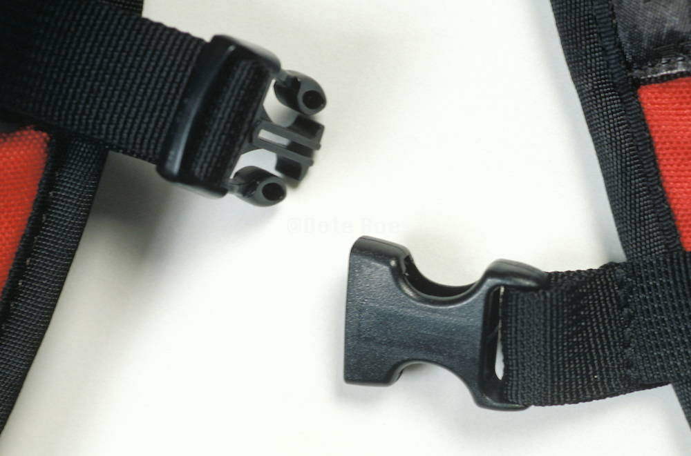 detail of unfastened straps