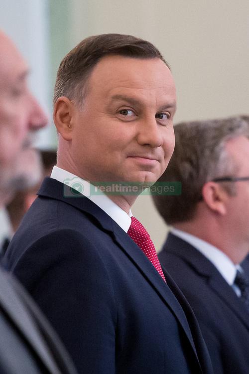 June 12, 2017 - Warsaw, Poland - President of Poland Andrzej Duda at Presidential Palace in Warsaw, Poland on 12 June 2017  (Credit Image: © Mateusz Wlodarczyk/NurPhoto via ZUMA Press)