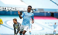 Football - 2019 / 2020 Premier League - Manchester City vs Norwich City<br /> <br /> Raheem Sterling of Manchester City celebrates at the Etihad Stadium.<br /> <br /> COLORSPORT/LYNNE CAMERON