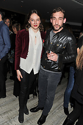 FLORENCE KEITH-ROACH and JOSEPH MAWLE at the Matthew Williamson London Fashion Week Autumn/Winter 2012 After Party held at Nobu Berkeley, London on 19th February 2012.