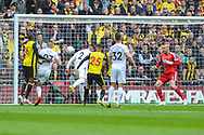 GOAL 0-1. Wolverhampton Wanderers defender Matt Doherty (2) scores a goal during the The FA Cup semi-final match between Watford and Wolverhampton Wanderers at Wembley Stadium, London, England on 7 April 2019.