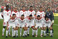 Fotball<br /> African Nations Cup 2004<br /> Foto: Digitalsport<br /> Norway Only<br /> <br /> 1/4 FINAL - 040207 - TUNISIA v SENEGAL<br /> <br /> TEAM TUNISIA ( BACK ROW LEFT TO RIGHT : RIADH JAIDI / MEHDI NAFTI / KARIM HAGUI / KHALED BADRA / JAWHAR MNARI / ALI BOUMNIJEL . FRONT ROW : SELIM BENACHOUR / ANIS AYARI / ZIAD JAZIRI / FRANCILEUDO SANTOS / RIADH BOUAZIZI )
