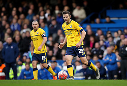 Jamie Ness of Scunthorpe United passes the ball - Mandatory byline: Robbie Stephenson/JMP - 10/01/2016 - FOOTBALL - Stamford Bridge - London, England - Chelsea v Scunthrope United - FA Cup Third Round